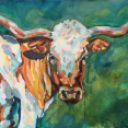 """Longhorn"" 2x3' Oil on Canvas - SOLD"