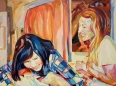 """Bestfriends"" 36x48"" Oil on Canvas"